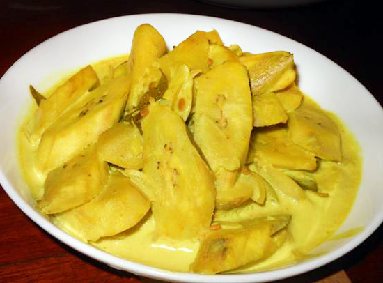 Ash (Green) Plantain Curry