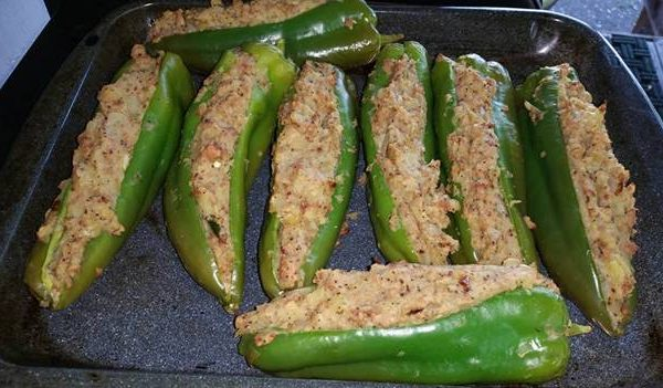 Stuffed BBQ Banana Pepper